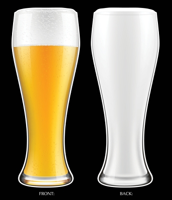XXL Beer Glass Tall Full/Empty